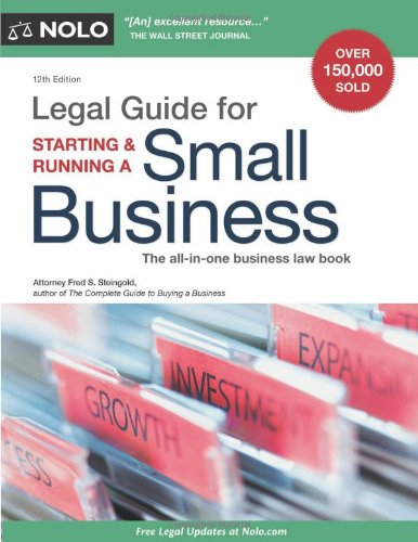 Legal Guide for Starting & Running a Small Business 9781413313819
