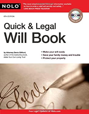 Quick & Legal Will Book 9781413313895