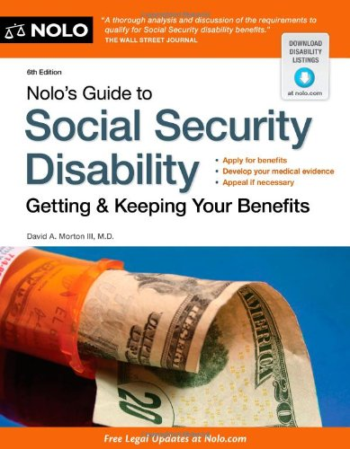Nolo's Guide to Social Security Disability: Getting & Keeping Your Benefits 9781413316896
