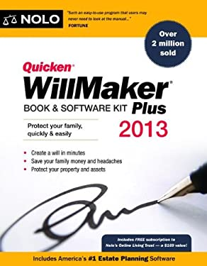 Quicken Willmaker Plus 2013 Edition: Book & Software Kit 9781413317558