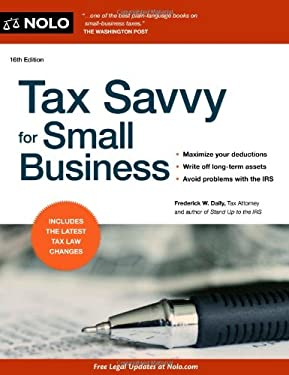 Tax Savvy for Small Business 9781413317602