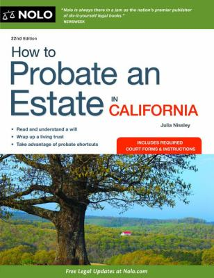 How to Probate an Estate in California 9781413318296