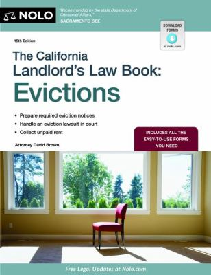 The California Landlord's Law Book: Evictions 9781413318517
