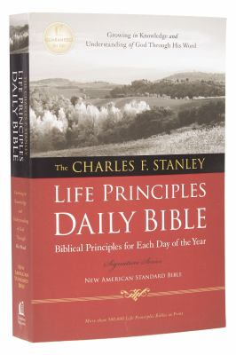 Charles F. Stanley Life Principles Daily Bible-NASB 9781418548858