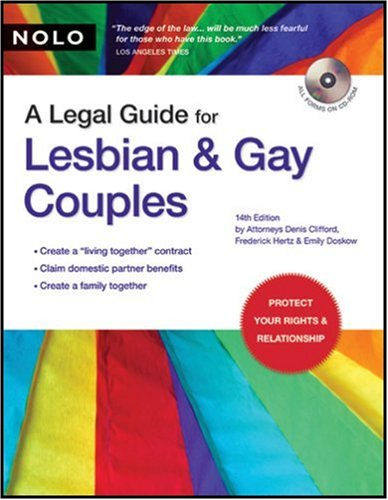 A Legal Guide for Lesbian and Gay Couples [With CDROM] 9781413306293