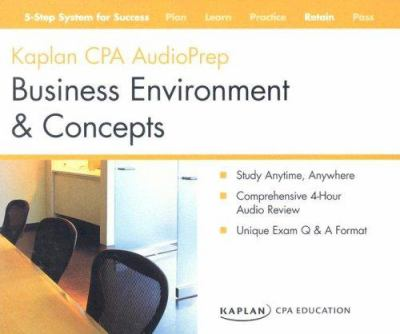 CPA Exam: Audio Review CDs Business Environment and Concepts 9781419591112