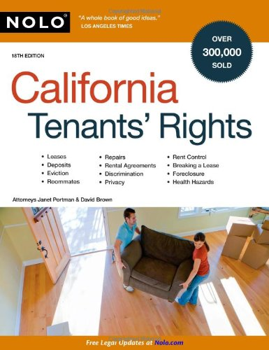 California Tenants' Rights 9781413309362