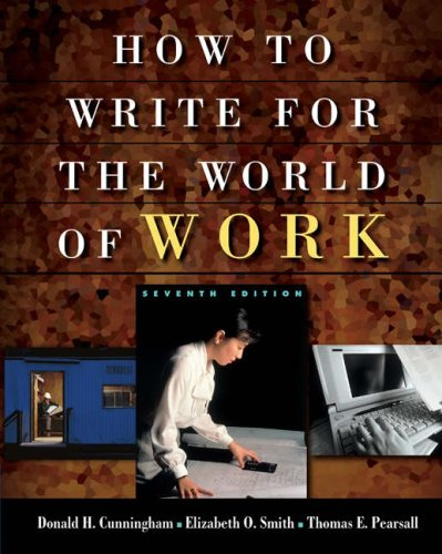 Cengage Advantage Books: How to Write for the World of Work 9781413001945