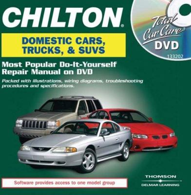 Chilton Total Car Care Domestic Vehicles DVD