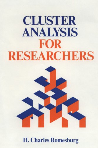 Cluster Analysis for Researchers 9781411606173