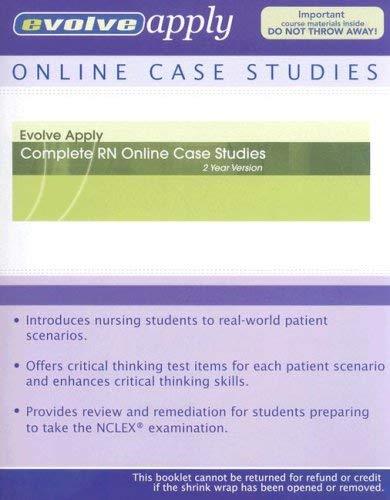 Complete RN Online Case Studies: 2 Year Version 9781416060062