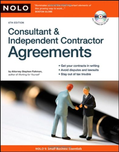 Consultant and Independent Contractor Agreements [With CDROM] 9781413307146