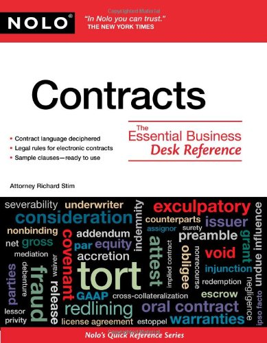 Contracts: The Essential Business Desk Reference 9781413312812