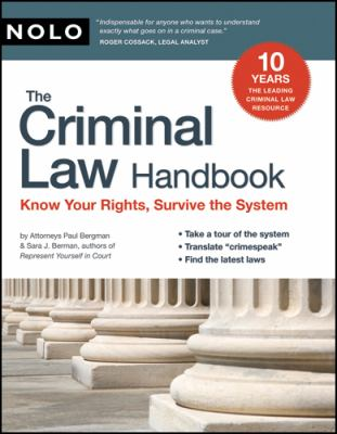 The Criminal Law Handbook the Criminal Law Handbook