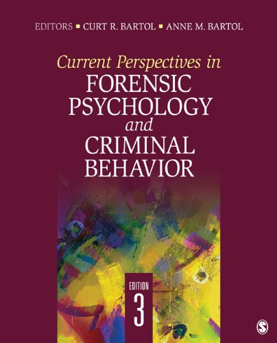 Current Perspectives in Forensic Psychology and Criminal Behavior 9781412992442