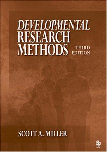 Developmental Research Methods 9781412950299