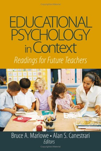 Educational Psychology in Context: Readings for Future Teachers 9781412913881