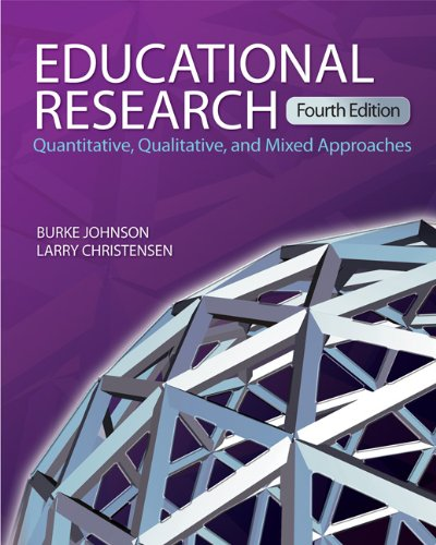 Educational Research: Quantitative, Qualitative, and Mixed Approaches 9781412978286