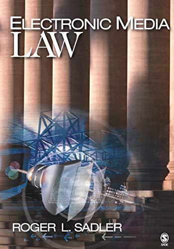 Electronic Media Law 9781412905886
