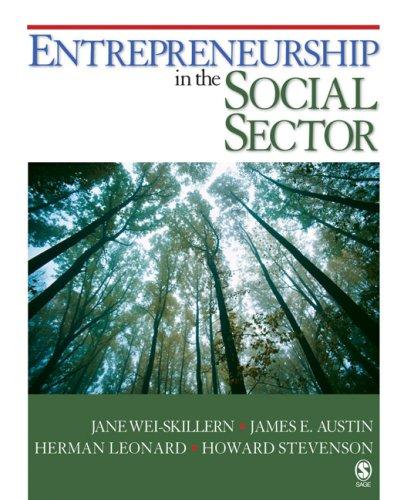 Entrepreneurship in the Social Sector 9781412951371