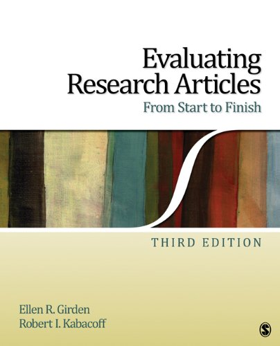 Evaluating Research Articles from Start to Finish 9781412974462