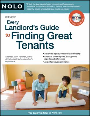 Every Landlord's Guide to Finding Great Tenants [With CDROM] 9781413308648