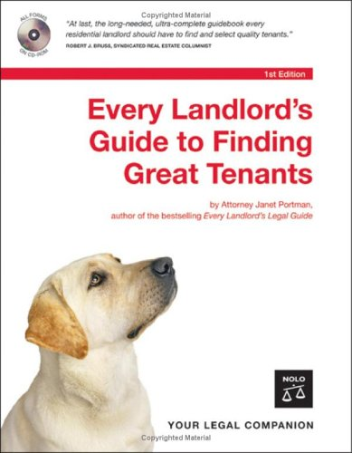 Every Landlord's Guide to Finding Great Tenants [With CDROM] 9781413304138