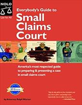 Everybody's Guide to Small Claims Court 6192069