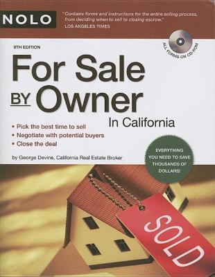 For Sale by Owner in California [With CDROM] 9781413307504