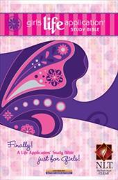 Girls Life Application Study Bible-NLT-Butterfly