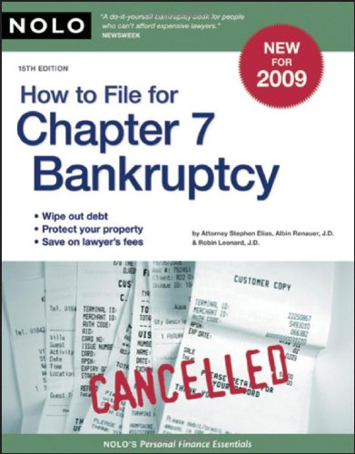 How to File for Chapter 7 Bankruptcy 9781413308976