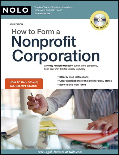 How to Form a Nonprofit Corporation [With CDROM] 9781413310269