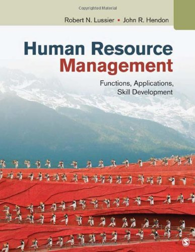 Human Resource Management: Functions, Applications, Skill Development 9781412992428