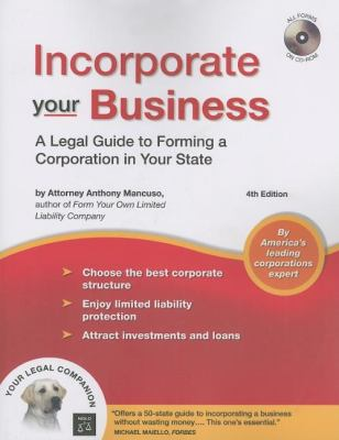 Incorporate Your Business [With CDROM] 9781413306361
