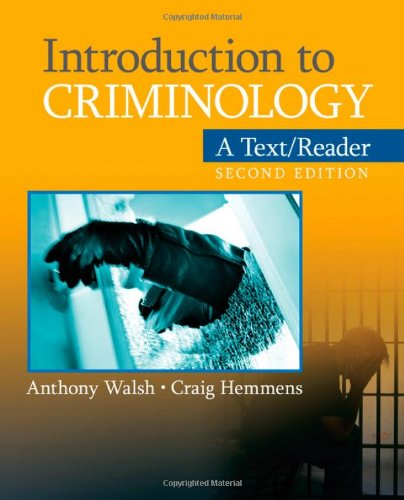 Introduction to Criminology: A Text/Reader 9781412992367