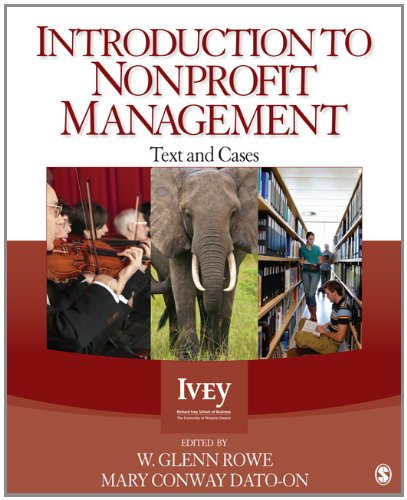 Introduction to Nonprofit Management: Text and Cases 9781412999236