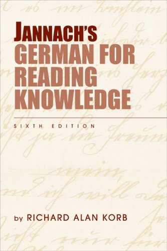 Jannach's German for Reading Knowledge 9781413033496