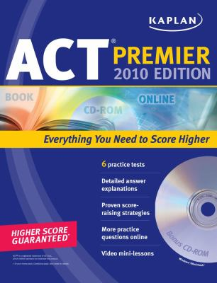 Kaplan ACT Premier [With CDROM] 9781419553271