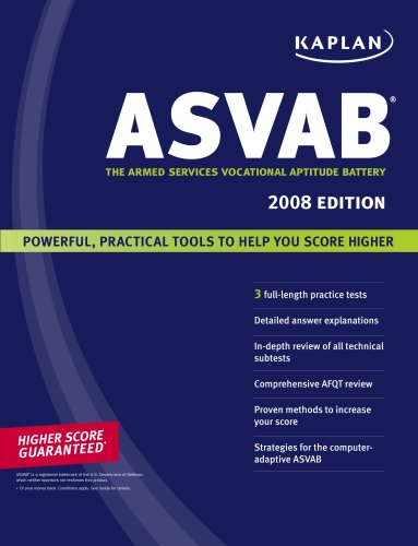 Kaplan ASVAB: The Armed Services Vocational Aptitude Battery 9781419551468