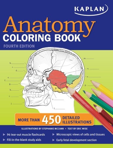 Kaplan Anatomy Coloring Book [With 96 Tear-Out Muscle Flashcards] 9781419550409