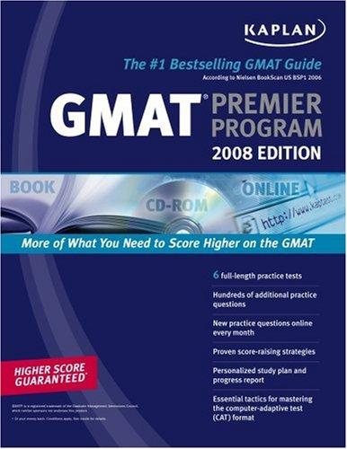 Kaplan GMAT 2008 Premier Program (W/ CD-ROM) 9781419551314