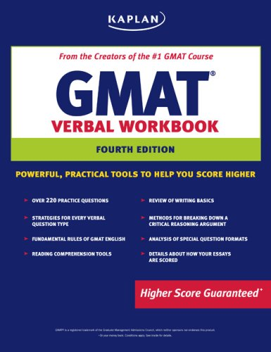 Kaplan GMAT Verbal Workbook 9781419551413