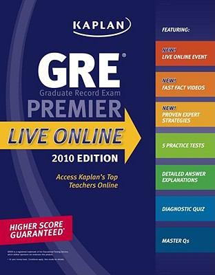 Kaplan GRE Exam 2010 Premier Live Online 9781419552977