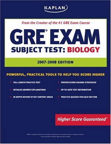 Kaplan GRE Exam Subject Test: Biology 9781419542008