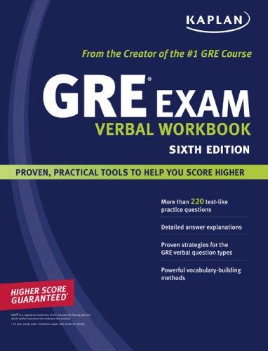 Kaplan GRE Exam Verbal Workbook 9781419552199