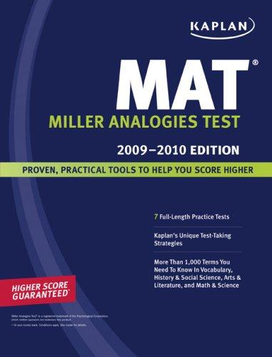 Kaplan MAT: Miller Analogies Test 9781419553073
