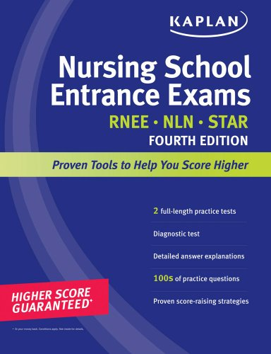 Kaplan Nursing School Entrance Exams 9781419550348