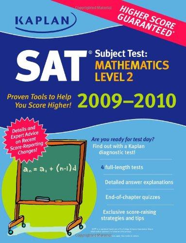 Kaplan SAT Subject Test: Mathematics Level 2 9781419552632
