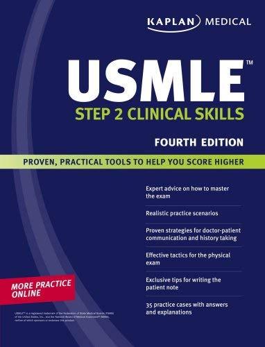 Kaplan USMLE Step 2 Clinical Skills 9781419553172