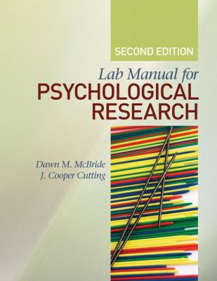 Lab Manual for Psychological Research 9781412979764